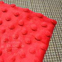Лоскут ткани minky М-23 размером 80*80 см красного цвета