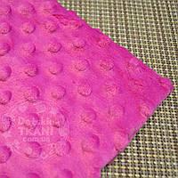 Лоскут ткани minky М-18 размером 80*80 см сиреневого цвета