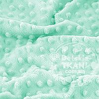 Лоскут ткани minky М-9 размером 40*40 см светло-мятного цвета