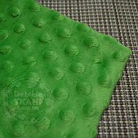 Лоскут ткани minky М-3 размером 80*80 см зелёного цвета