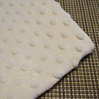 Лоскут ткани minky М-13 размером 40*40 см цвета слоновой кости