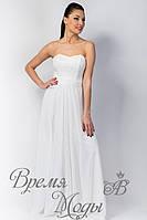 Платье длинное, корсет, с поясом. /Белое/ 5 цветов.