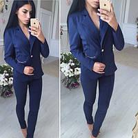 Стильный деловой костюм, пиджак+брюки, 2 цвета