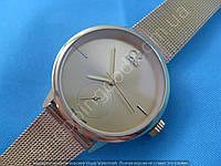 Женские часы Calvin Klein 114236 золотистые плетеный браслет диаметр 3,2 см