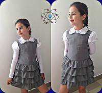Красивый школьный сарафан для девочки