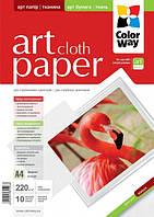 Фотобумага ColorWay ART матовая/фактура ткань 220г/м, 10л, A4