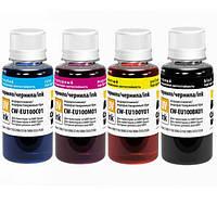 Комплект чернил ColorWay для Epson L100/L200 UV Dye 4 x 100 ml  (CW-EU100SET01)