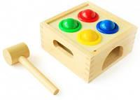 Деревянная игрушка-стучалка Шарики с молоточком  Д027