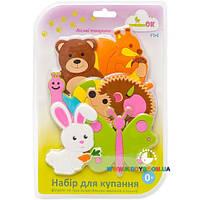 Набор игрушек для купания на присосках Fixi Лесные животные Kinderenok 040313