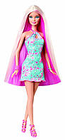 Кукла Барби в голубом платье, оригинал. Barbie Hairtastic Blue Dress Long Blonde Hair Doll