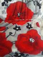 Красивое одеяло с цветочным принтом