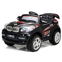 Детские электромобиль Джип BMW черный на радиоуправлении