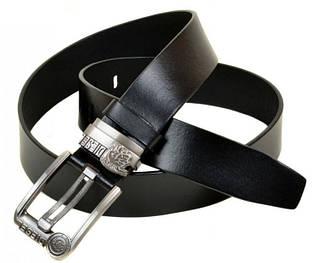 Мужской кожаный ремень W0017 black (черный) 4 см