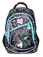 Рюкзак подростковый (школьный) 17327 колокольчик черный, рюкзак для школы, рюкзаки оптом,  дропшиппинг украина