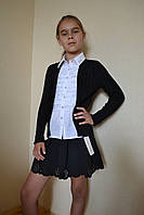 Обманка на девочку школьная кофта и блуза 116-164