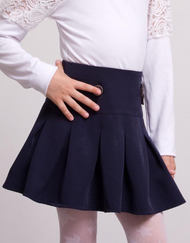 детская юбка серая школьная плиссе купить