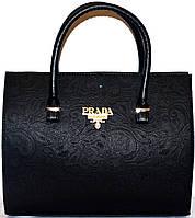 Сумка ,саквояж женская Prada(Прада)черный узор шикарная копия в наличии