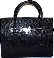 Сумка ,саквояж женская Prada(Прада)черная,кожа змеи,рептилия шикарная копия в наличии