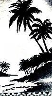 Полотенце махровое 81*160 Пальма