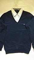 Кофта-рубашка обманка. 134-164
