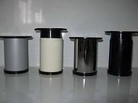 Ножка  мебельная, опора для мебели H80 мм D50 мм. Черный глянец