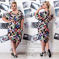 Платье из штапеля в цветочный принт