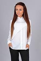 Стильная белая блузка из поплина