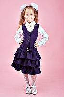 Школьный сарафан для девочки №111 (т.синий)