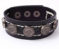 Мужской кожаный браслет