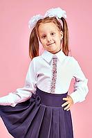 Детская школьная блузка для девочки №106 Вышиванка
