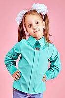 Детская школьная блузка для девочки №106  (мятный)
