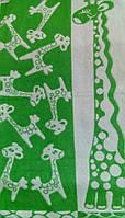 Полотенце махровое 67*150 ЖИРАФИК зеленый