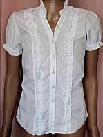 Блузка детская Белая школьная со стойкой