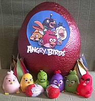 Яйцо мега-сюрприз c игрушками фигурками из мультфильма Энгри бердс Angry birds (большое)