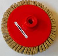 Круг войлочный лепестковый 150х30хМ14 полировальный тонкошерстный на УШМ 3000 об/мин