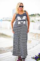 Молодежное платье-майка в полоску БАТ 497 (8049)