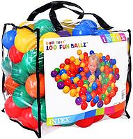 Пластиковые шарики для сухого бассейна INTEX 49600, диаметр 8см, 100шт. в сумке-упаковке