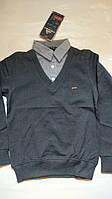 Кофта-рубашка обманка. 5-8 лет