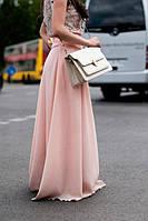 Женская юбка в пол шифоновая