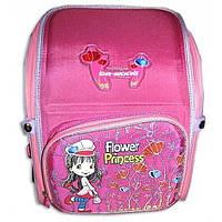 """Ранец школьный ортопедический Dr.Kong """"Принцесса и цветы"""" розовый"""