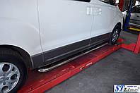 Боковые площадки Premium d42 (2 шт., нерж.) - Hyundai Starex H1 H300 (2008+)