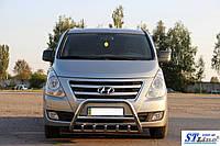 Кенгурятник WT003 (нерж.) - Hyundai Starex H1 H300 (2008+)