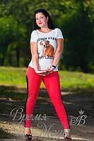 Лосины женские больших размеров. /Красные/. (3 цвета)