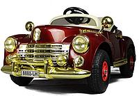 Детские электромобиль Ретрокар Lux бордовый