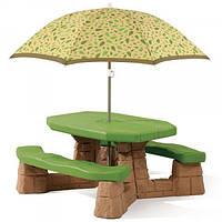 Детский столик Step2 для пикника с зонтиком 7877
