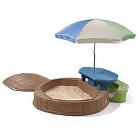 Песочница Step 2 со столиком и зонтиком 8437