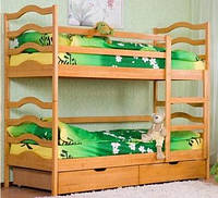 Детская кровать деревяная двухярусная София