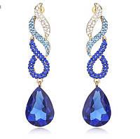 Вечерние серьги Crystal Blue
