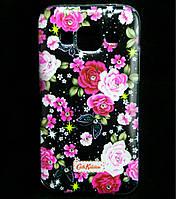 Чехол накладка для Samsung Galaxy Core Prime G360H силиконовый Diamond Cath Kidston, Ночные розы