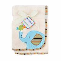 Флисовый плед Слоненок Garanimals Animal Antics Embroidered Elephant Fluffy Fleece Blanket